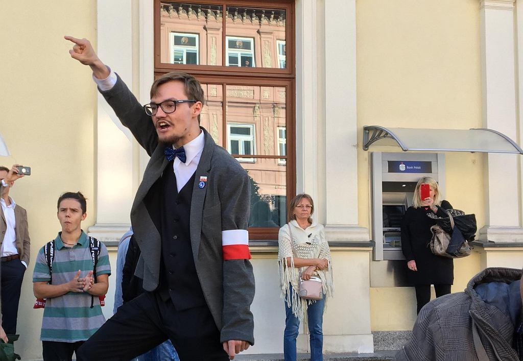 Przeciwnik Marszu Równości w Lublinie