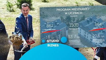'Studio biznes' 'rozprawia się' z programem 'Mieszkanie+'. Premier Morawiecki deklarował oddanie 100 tys. lokali. Co wyszło z tych planów?