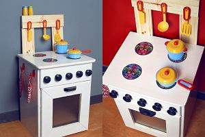 Kuchnia drewniana dla dzieci - zrób to sam