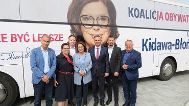 Wizyta Małgorzaty Kidawy-Błońskiej, kandydatki KO na premiera w gorzowskim szpitlua