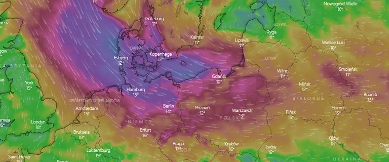Niż Ignaz przyniósł zmianę pogody. IMGW ostrzega przed silnym wiatrem