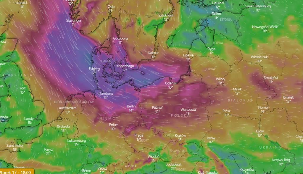 Pogoda. Niż nadciągający nad Polskę