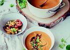 Zupa z pieczonych papryk i pomidorów