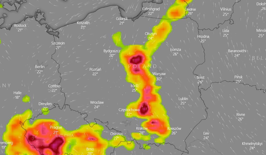 Burze w Polsce - prognoza na 8 lipca 2021