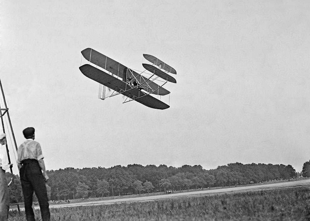 Samolot braci Wright w Fort Meyer Virginia w lipcu 1909
