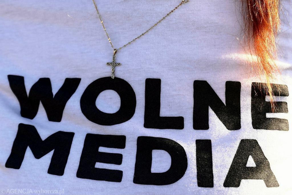 Wolne media (zdjęcie ilustracyjne). Demonstracja w Wadowicach