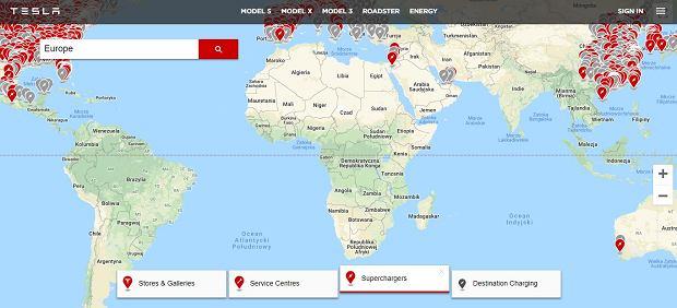 Supercharger Tesli w Afryce