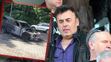 Spalony samochód Jarosława Kołakowskiego