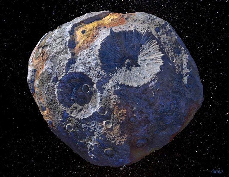 Asteroida (16) Psyche - wizja artysty