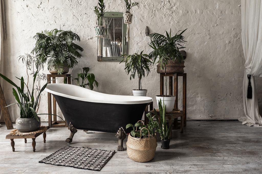 Dywanik łazienkowy w stylu vintage.