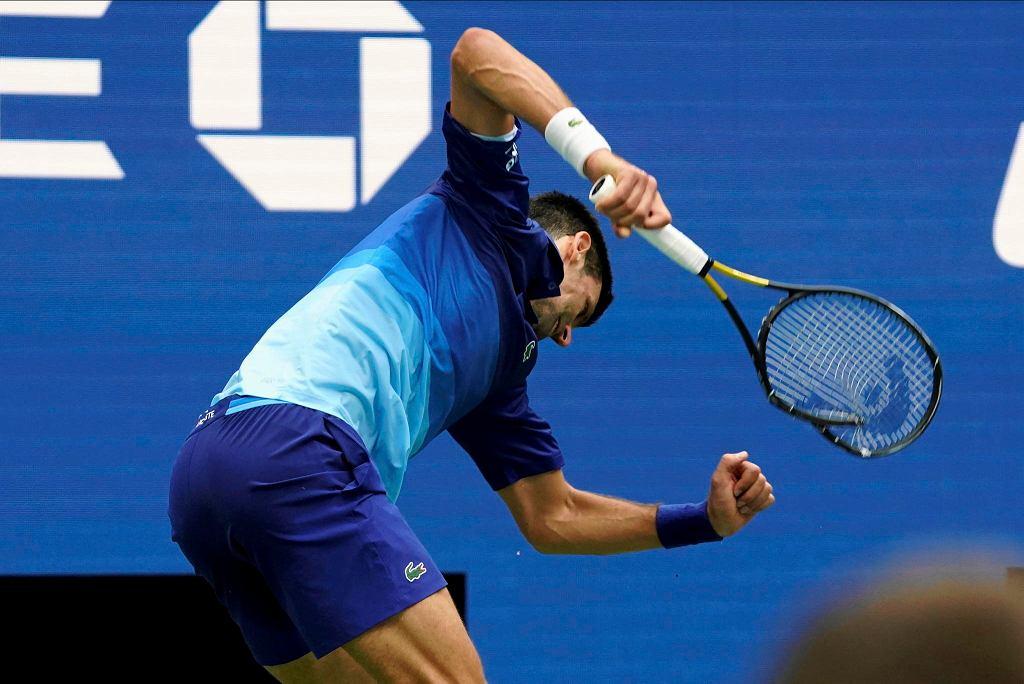 Novak Djoković w meczu z Daniłem Miedwiediewem