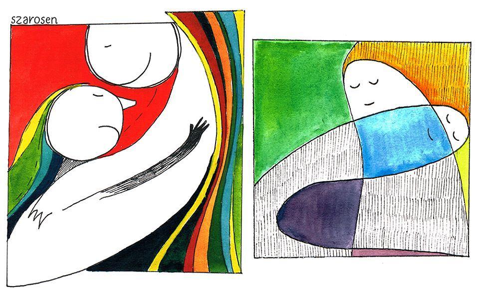 Rysunki inspirowane przeżyciami osób z zespołem Aspergera