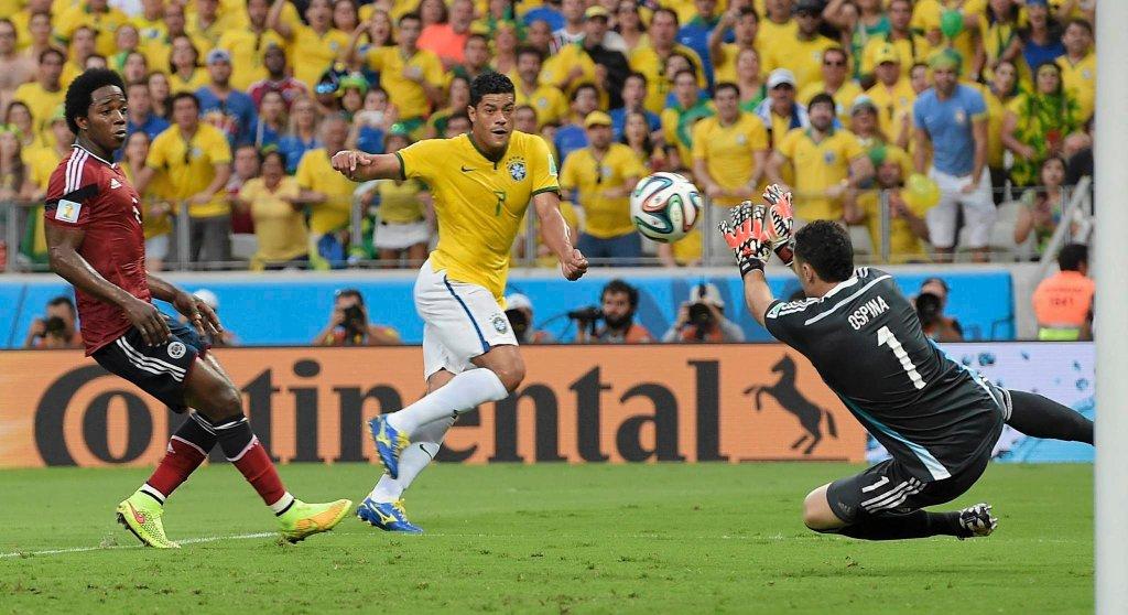 Brazylia - Kolumbia 2:1. Hulk i David Ospina