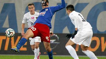 Kamil Wilczek w meczu Piast Gliwice - Pogoń Szczecin 1:0
