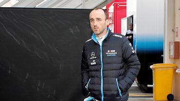 Robert Kubica podczas testów na torze Montmelo. Barcelona, 21 lutego 2019