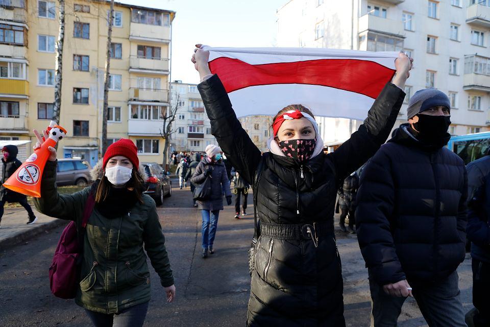 Cztery miesiące oporu wobec reżimu. Białorusini znów wyszli na ulice miast, Mińsk, 6 grudnia 2020 r.