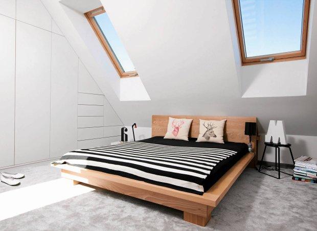 sypialnia na poddaszu, aranżacja sypialni