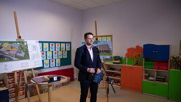 Prezydent Warszawy Rafał Trzaskowski w przedszkolu przy ul. Rydygiera 8a zapowiada budowę szkoły przy ul. Anny German dla Żoliborza Południowego