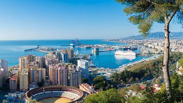 Hiszpańskie miasto Malaga leżące w Andaluzji