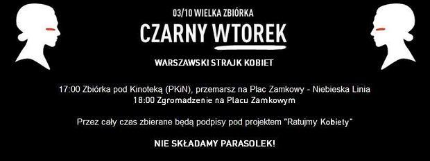 Czarny Wtorek na ulicach Warszawy