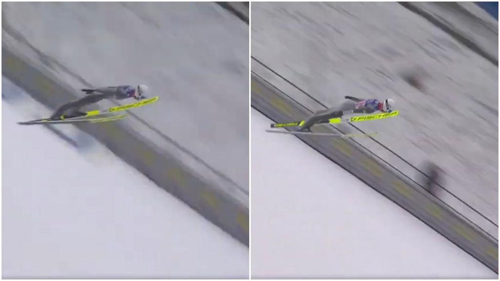 Tak wyglądał lot Andrzeja Stękały podczas skoków konkursowych w Innsbrucku