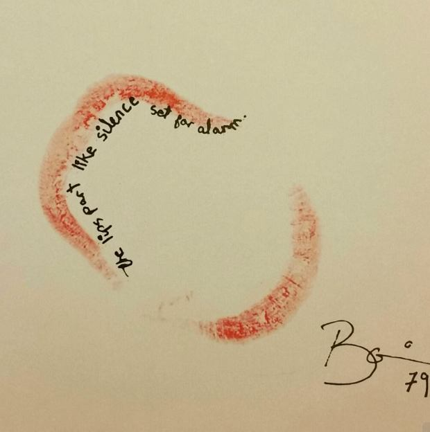 David Bowie's lip prints from 1979 book  'With Love From..'