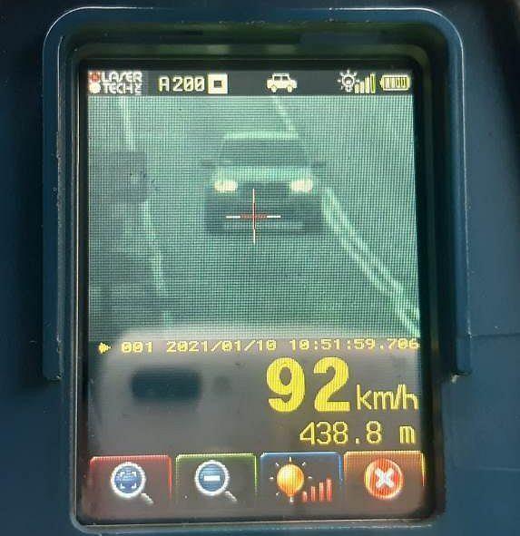 Pomiar z policyjnego radaru