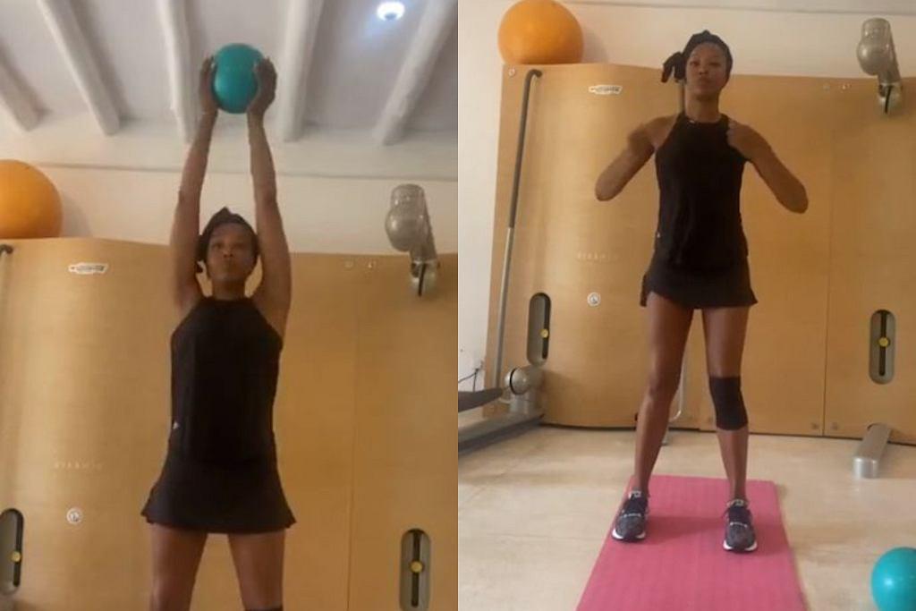 Naomi Campbell pokazała. ja ćwiczy