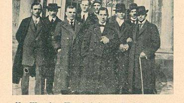 Warta Poznań przed pierwszym meczem z Wisłą w Krakowie w 1913 roku