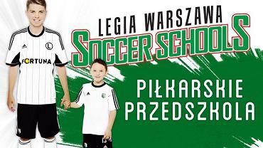 Plakat promujący Przedszkola Legii Warszawa