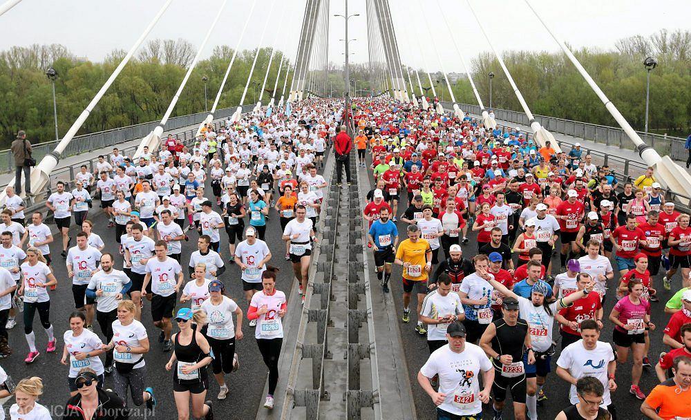 Maraton Orlen Warsaw Marathon 2015 w Warszawie, 26.04.2015 r.