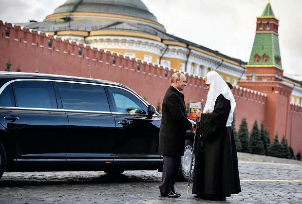 Putin i patriarcha Cyryl na placu Czerwonym w Dniu Jedności Narodowej. To święto obchodzone jest 4 listopada, w rocznicę wypędzenia Polaków z Kremla w 1612 roku
