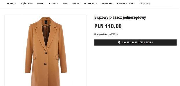 Na punkcie tego płaszcza oszalały kobiety na całym świecie. To największy hit na ten sezon! Kupicie go w Primarku za mniej niż 120 zł