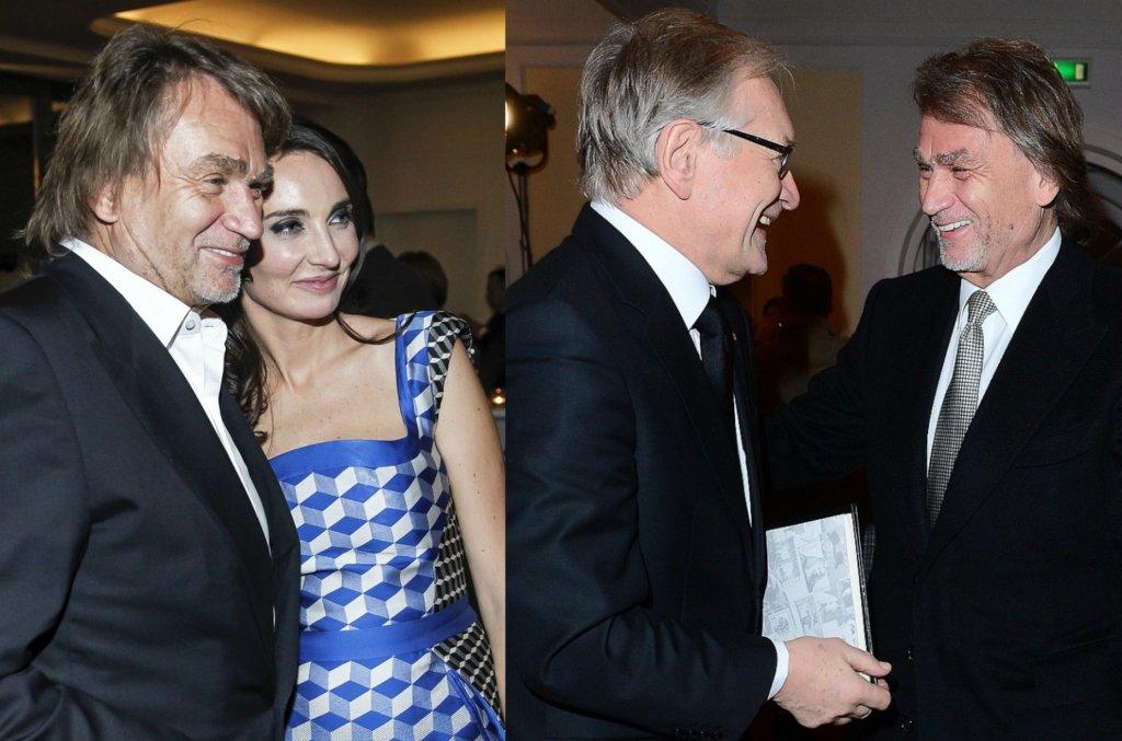 Jan Kulczyk z córką Dominiką oraz z Andrzejem Sewerynem