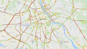 Korki w Warszawie