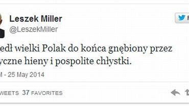 Leszek Miller na Twitterze o śmierci generała Jaruzelskiego