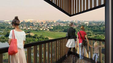 Wieża widokowa na Szachtach w Poznaniu - wizualizacja. Autor: Toya Design