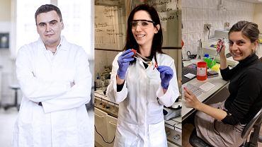 Prof. Marcin Drąg, mgr inż. Katarzyna Groborz i dr inż. Wioletta Rut