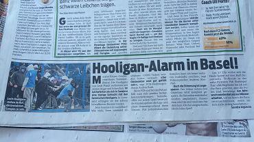 Szwajcarska prasa o kibicach z Poznania