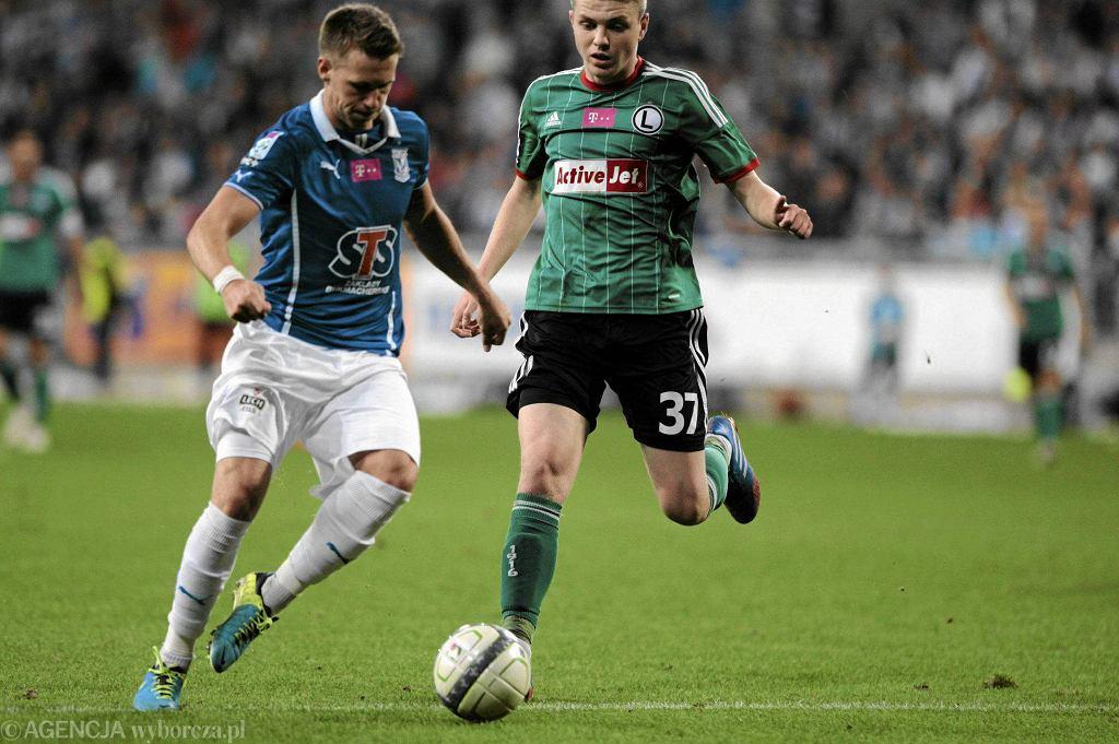 Lech Poznań - Legia Warszawa 1:1. Barry Douglas i Dominik Furman