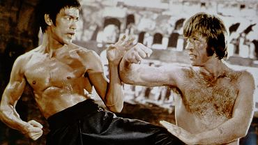 Bruce Lee i Chuck Norris w filmie 'Droga smoka'