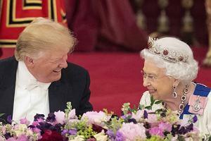 Królowa Elżbieta II i Donald Trump
