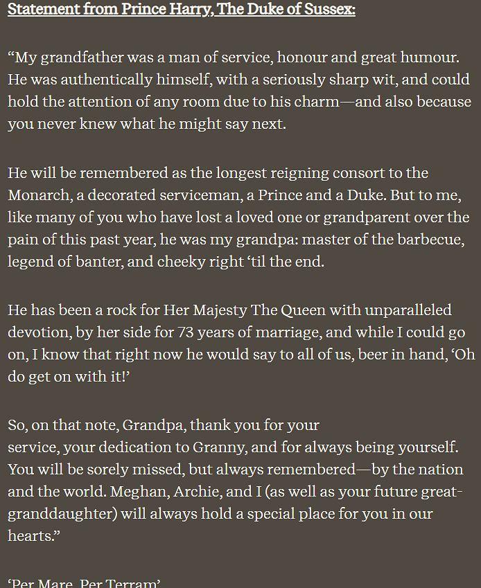 Pożegnanie księcia Filipa