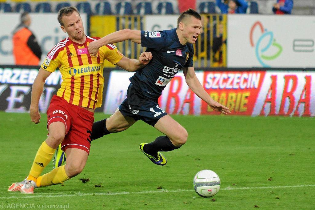 Marcin Robak podczas meczu Pogoń - Korona