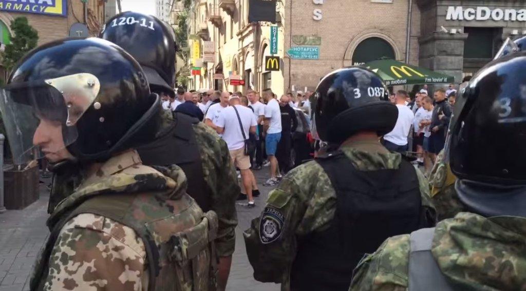 Starcia na ulicach Kijowa