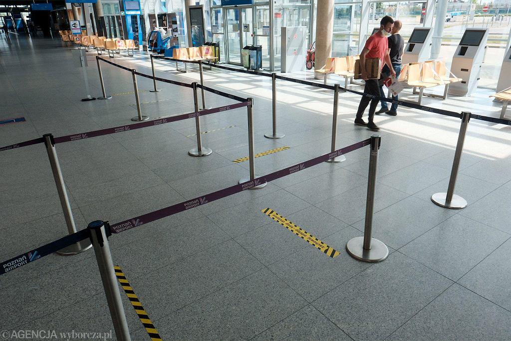 Lotnisko Ławica w Poznaniu przygotowane na powrót lotów po przerwie związanej z pandemią koronawirusa