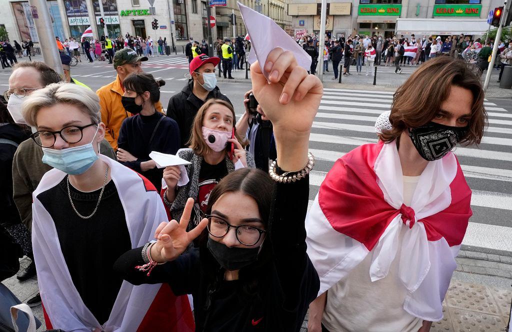 Demonstracja solidarności z Białorusią