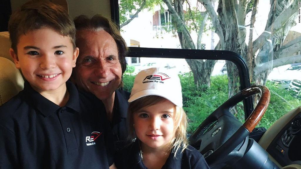 Emerson Fittipaldi z synem i córką