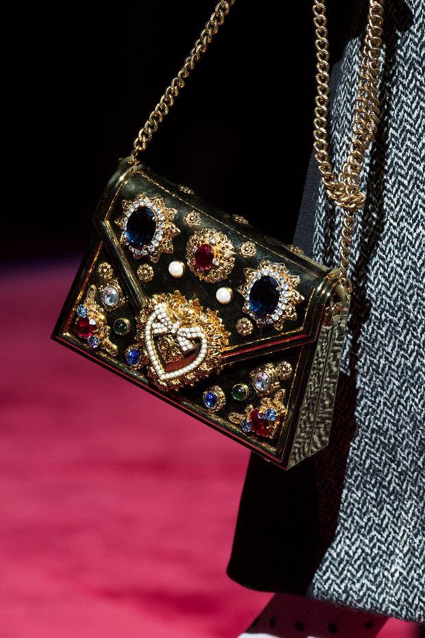 Błyszcząca torebka Dolce & Gabbana