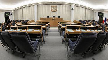 Wybory parlamentarne 2019. Sala obrad Senatu
